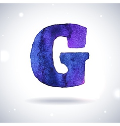 Watercolor letter G vector image