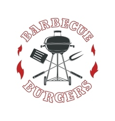 Barbecue logo template vector image
