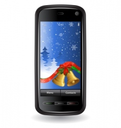 Christmas cell phone vector image vector image