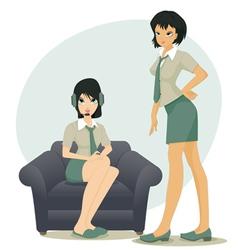 Employees working women vector