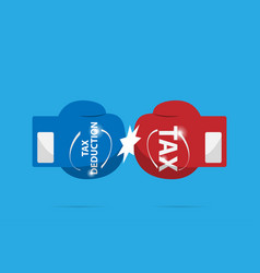 fighting of blue and red boxing gloves tax vector image vector image