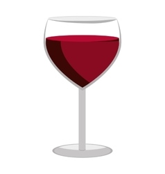 glass of wine graphic vector image vector image