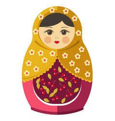 matryoshka doll or russian nesting doll with vector image
