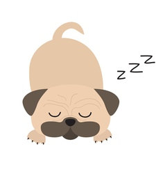 Mops pug dog Cute cartoon character Flat design vector image vector image