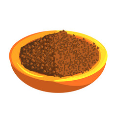 plate of buckwheat food item rich in proteins vector image