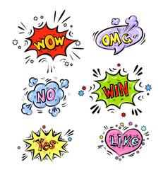 retro comic speech bubbles set with colorful vector image vector image