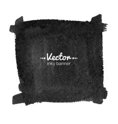 Watercolor black banner vector image