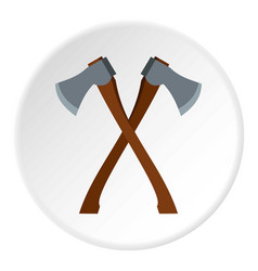 2 axe icon circle vector