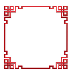 3d chinese border frame vector