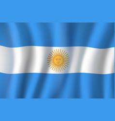 3d flag argentina national symbol vector