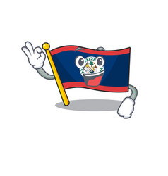 A picture flag belize making an okay gesture vector