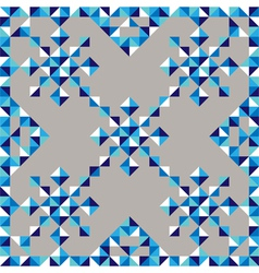 abstract triangle snowflake pattern vector image
