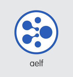 Aelf virtual currency elf coin image vector
