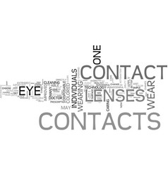 Are contacts right for you text word cloud concept vector