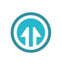 arrow up round icon logo vector image