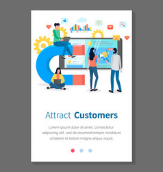 attracting online customers webpage template vector image