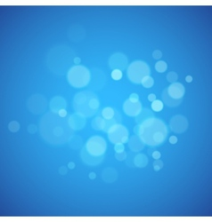 Blue background with defocused lights vector image