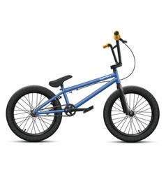 blue bmx bicycle - right side view vector image