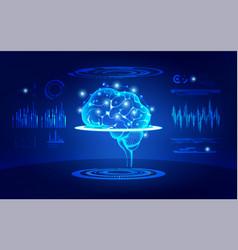 brain test vector image