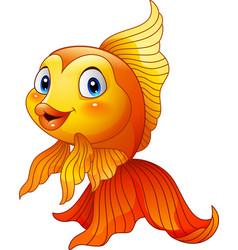 cartoon cute goldfish vector image