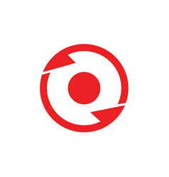 Circle geometric rotation arrow center logo vector