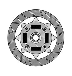 Clutch plate engine part vector