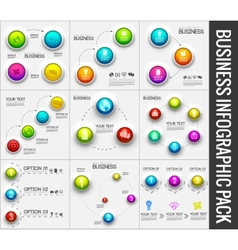 collection pack of 9 Business abstract 3D digital vector image