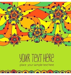 Colorful greeting card with flowers vector image