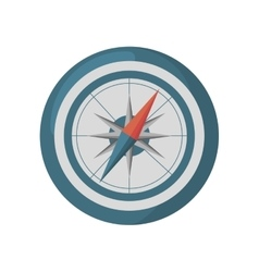 compass guide device isolated icon vector image