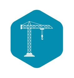 Construction crane icon simple style vector