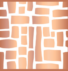 copper foil rectangle shapes seamless pattern vector image