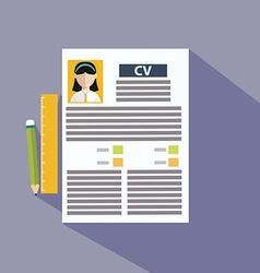 CV template presentation vector image