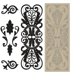 decorative pane vector image vector image