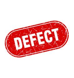 Defect sign defect grunge red stamp label vector