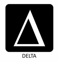 delta sign vector image