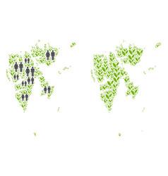 Demographics and nature svalbard island map vector