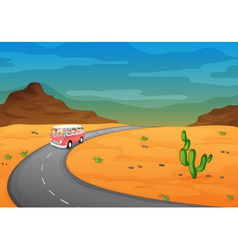 Desert Road Journey vector