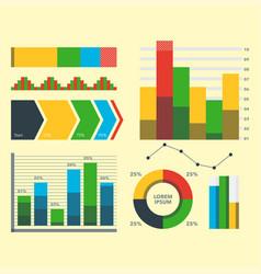 design diagram chart elements vector image