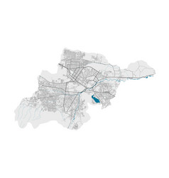 Detailed map kabul city cityscape royalty free vector