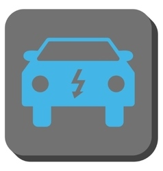 Electric Car Rounded Square Button vector
