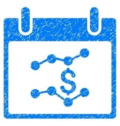 Financial Charts Calendar Day Grainy Texture Icon vector