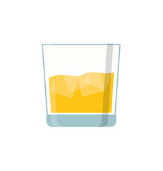 Glass of whisky vector
