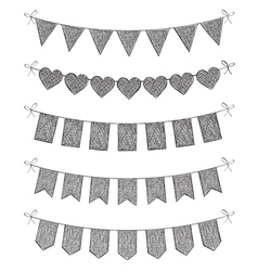 Hand Drawn Bunting vector