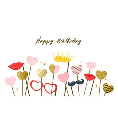 happy birthday design template vector image