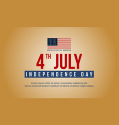 Happy independence day style design banner vector