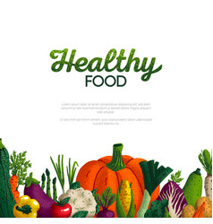 healthy food banner design variety decorative vector image