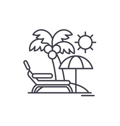 holidays by the sea line icon concept holidays by vector image