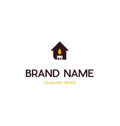 Home candle logo design vector