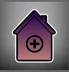 Hospital sign violet vector