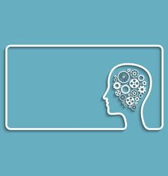 human head gears frame vector image
